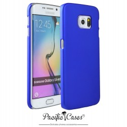 Coque pour Samsung S6 Edge touché gomme marque Pacific Cases® - bleu foncé