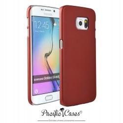 Coque pour Samsung S6 Edge touché gomme marque Pacific Cases® - rouge