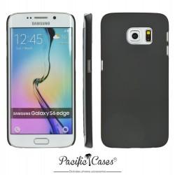 Coque pour Samsung S6 Edge touché gomme marque Pacific Cases® - noir