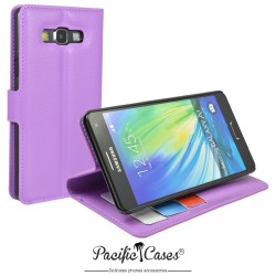 étui pour Samsung A7 ouverture folio et fonction stand par Pacific Cases® - mauve