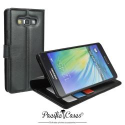 étui pour Samsung A7 ouverture folio et fonction stand par Pacific Cases® - noir