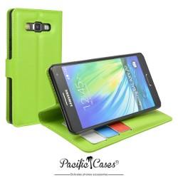 étui pour Samsung A7 ouverture folio et fonction stand par Pacific Cases® - vert