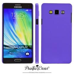 Coque pour Samsung A7 touché gomme marque Pacific Cases® - mauve