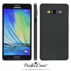 Coque pour Samsung A7 touché gomme marque Pacific Cases® - noir