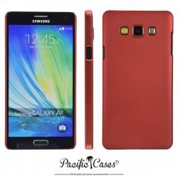 Coque pour Samsung A7 touché gomme marque Pacific Cases® - rouge