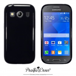 Coque gel pour Samsung Galaxy Ace 4 noir brillant