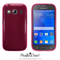 Coque gel pour Samsung Galaxy Ace 4 rose translucide