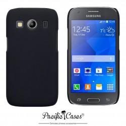 Coque pour Samsung Galaxy Ace 4 noire touché gomme