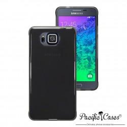 Coque gel pour Samsung Galaxy Alpha noir fumé