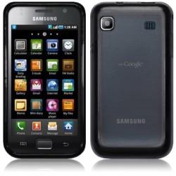 Coque arrière gel cristal noire transparente pour Samsung I9000 Galaxy