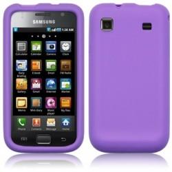 Coque arrière en silicone pourpre pour Samsung Galaxy I9000