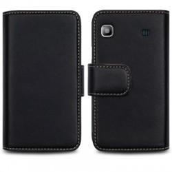 Etui noir portefeuille pour Samsung i9000 Galaxy S