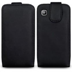 Etui noir simili cuir pour Samsung i9000 Galaxy S