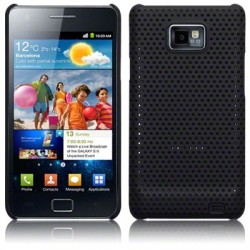 Coque noire rigide perforée pour Samsung i9100 Galaxy  SII