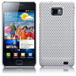 Coque blanche rigide perforée pour Samsung i9100 Galaxy  SII