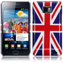 Coque rigide avec motif Union Jack pour Samsung i9100 Galaxy SII
