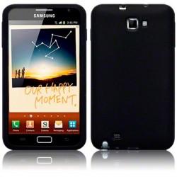 Coque noire en silicone pour Samsung Galaxy Note