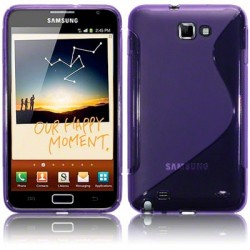 Coque gel pourpre pour Samsung Galaxy Note