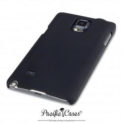 Coque pour Samsung Galaxy Note 4 noire touché gomme