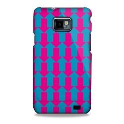 Coque motifs flèches fushia Samsung Galaxy S2