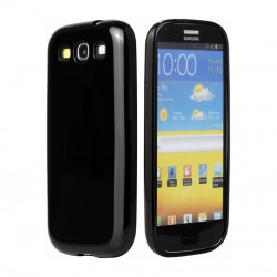 Coque noire glossy Samsung Galaxy S3