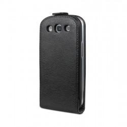 Etui cuir noir Moxie Galaxy S3