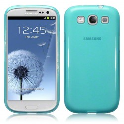 Coque bleu translucide pour Samsung Galaxy S3