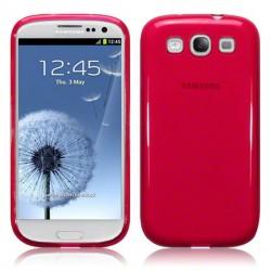 Coque rouge translucide Samsung Galaxy S3
