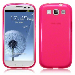 Coque rose translucide givre pour Samsung Galaxy S3