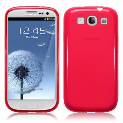 Coque rouge translucide givre Samsung Galaxy S3