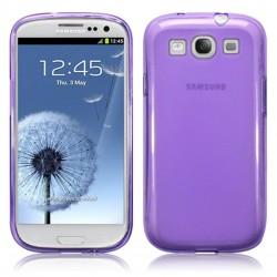 Coque violet translucide givre pour Samsung Galaxy S3