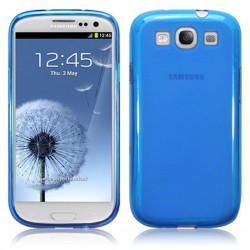 Coque bleu translucide givre pour Samsung Galaxy S3