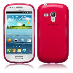 Coque rouge translucide pour Samsung s3 mini
