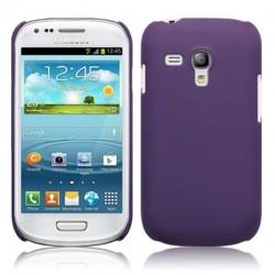 Coque pourpre rigide touché gomme pour Samsung S3 mini