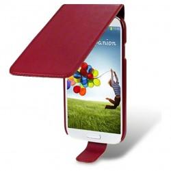Etui rouge à clapet pour Samsung S4
