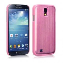 Coque en aluminium rose pour Samsung S4