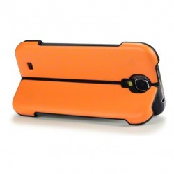 Coque orange avec fonction stand pour Samsung S4