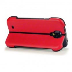 Coque rouge avec fonction stand pour Samsung S4