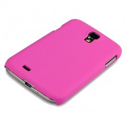 Coque rose touché gomme Pacific Cases® pour Samsung S4