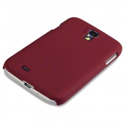 Coque rouge touché gomme Pacific Cases® pour Samsung S4