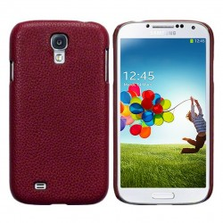 Coque cuir rouge Pacific Cases® pour Samsung S4