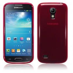 Coque rouge translucide pour Samsung s4 mini