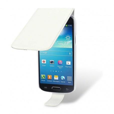 Etui blanc à clapet pour Samsung Galaxy S4 mini
