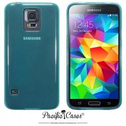 Coque bleu translucide pour Samsung S5