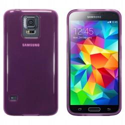 Coque violet translucide pour Samsung S5