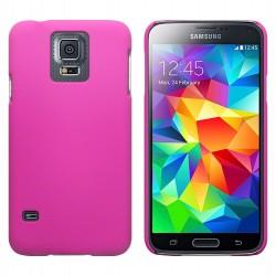 Coque rose touché gomme pour Samsung S5