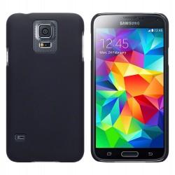 Coque noire touché gomme pour Samsung S5