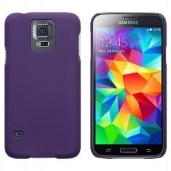 Coque pourpre touché gomme pour Samsung S5