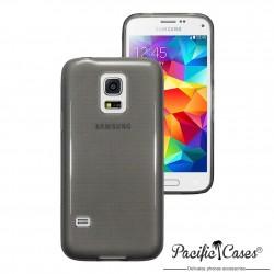 Coque gel pour Samsung S5 mini noir translucide