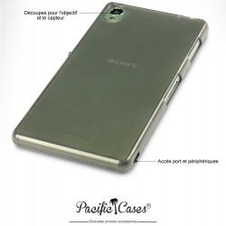 Coque pour Sony Xperia Z3 noir fumé translucide